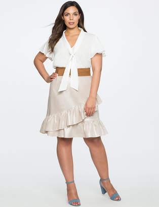Studio Asymmetric Ruffle Skirt
