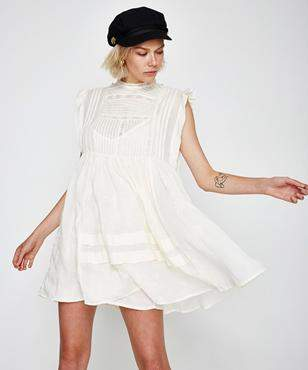 Free People Nobody Like You Emb Mini Dress