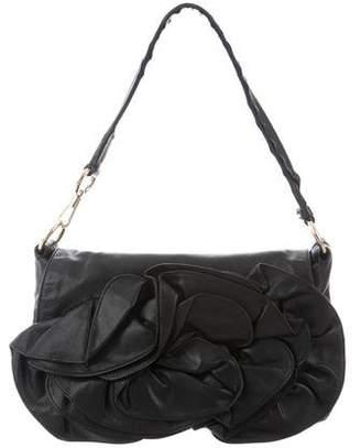 Saint Laurent Ruffled Leather Shoulder Bag
