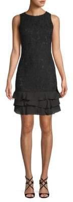 Julia Jordan Floral Lace Sleeveless Sheath Dress