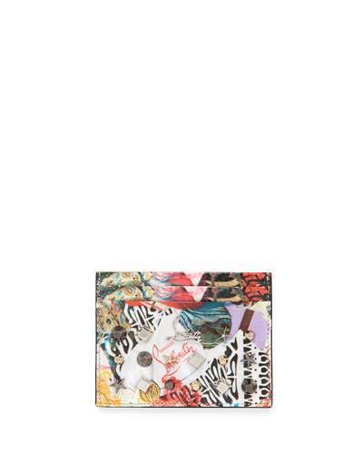 Christian Louboutin  Christian Louboutin Kios Spikes Card Holder, Trash Print