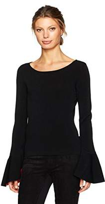 Milly Women's Contrast Draped SLV Pullover