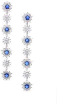 Adriana Orsini Crystal & Rhodium-Plated Linear Earrings
