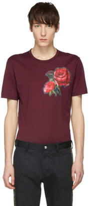 Dolce & Gabbana Red Flower T-Shirt