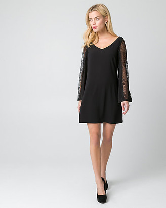 Le Château Lace & Crepe de Chine Dress