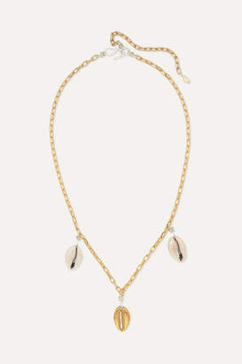 WALD Berlin - How Hi Gold-plated Shell Necklace - one size