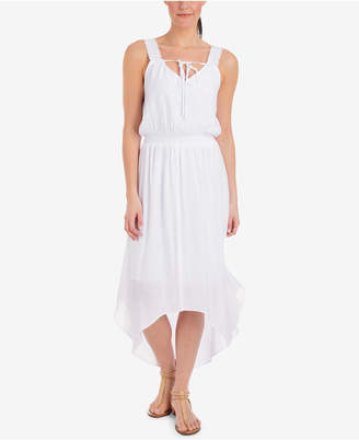NY Collection High-Low Lace-Strap Dress