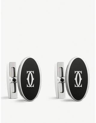 Cartier Double C decor oval cufflinks