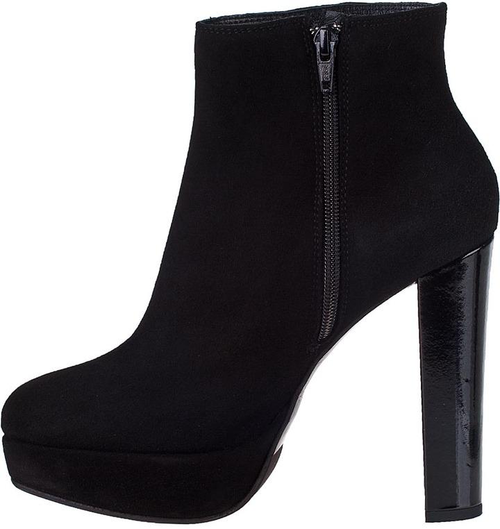 Gastone Lucioli 1051 Platform Boot Black Suede