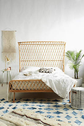 Anthropologie Curved Rattan Bed