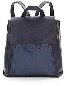 Saks Fifth Avenue Jefferson Faux Leather Backpack