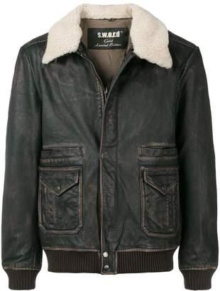 S.W.O.R.D 6.6.44 shearling collar jacket