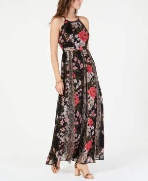 INC International Concepts I.n.c. Mixed-Print Maxi Dress, Created for Macy's