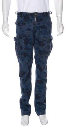 Michael Bastian Camo Printed Cargo Pants