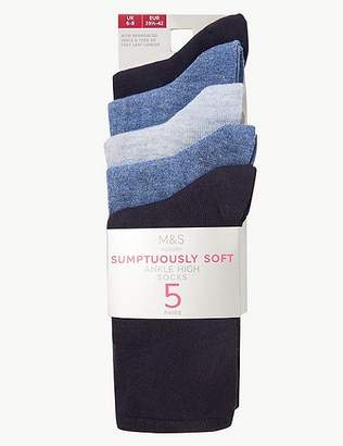 Marks and Spencer 5 Pair Pack Supersoft Socks