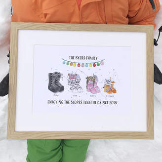 This Is Nessie Personalised Ski Boot Family Print