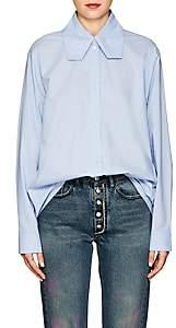 MM6 MAISON MARGIELA Women's Cotton Poplin Blouse - Blue