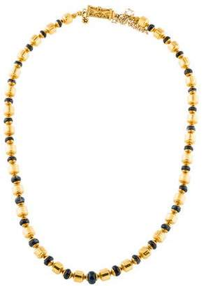 18K Sapphire Bead Necklace