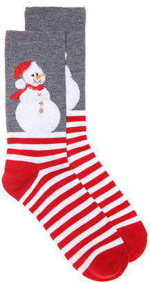 K. Bell Snowman Crew Socks - Women's