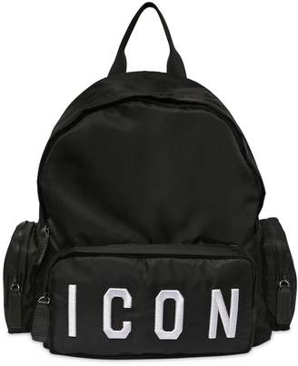 DSQUARED2 Icon Nylon Canvas Backpack