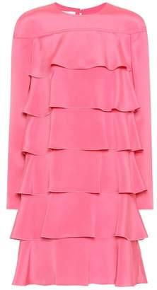 Valentino Tiered silk dress