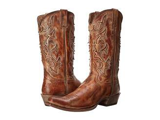 Stetson Cracked Inlay Snip Toe Boot Men's Boots