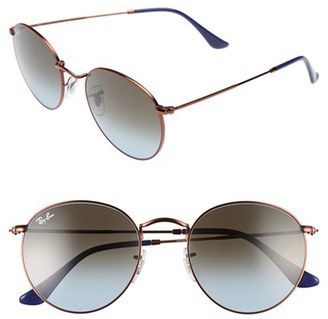 Women's Ray-Ban Icons 50Mm Retro Sunglasses - Blue/ Brown $165 thestylecure.com