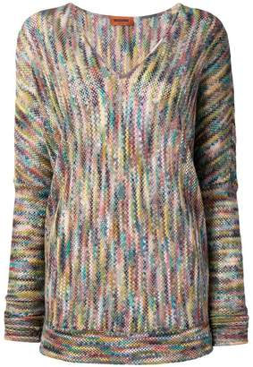Missoni V-neck sweatshirt
