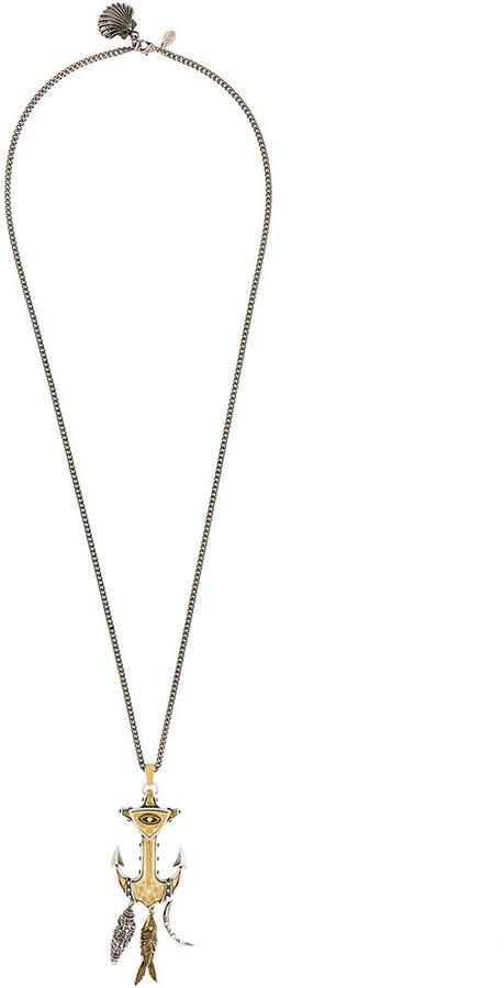 Alexander McQueenAlexander McQueen anchor pendant necklace