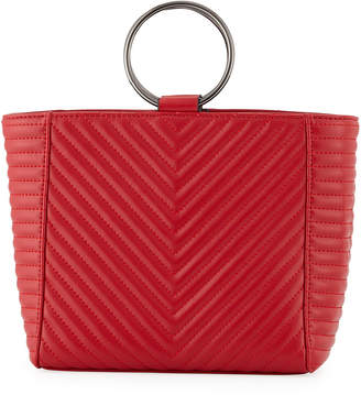 Jagger Kc Mimi Ring Quilted Leather Crossbody Bag