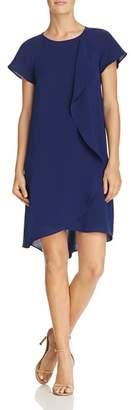 Adrianna Papell Draped Overlay Dress