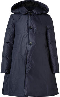 Comme des Garcons Hooded Shell Down Coat - Navy