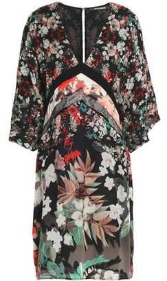 Roberto Cavalli Floral-Print Silk-Chiffon Mini Dress
