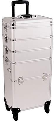 SUNRISE Makeup Case on Wheels 4 in 1 Professional Organizer I3361 Aluminum