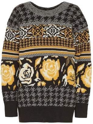 Junya Watanabe Intarsia wool-blend sweater
