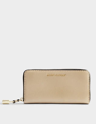 Marc Jacobs The Grind Standard Continental Wallet in Light Slate Cow Leather