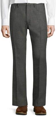 Prada Slouchy Textured Flare-Leg Pants