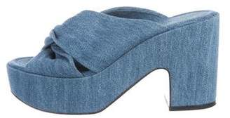Robert Clergerie Denim Platform Sandals