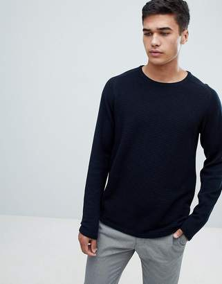 Selected Knitted Sweater In Ribbed 100% Organic Cotton