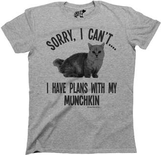 Munchkin Free Will Shirts Sorry I Cant I Have Plans With My Cat Breed T-Shirt Mens Ladies Unisex