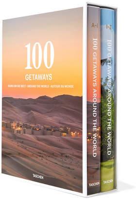 Taschen Set Of Two Hardcover Books: 100 Getaways Around The World - White