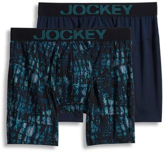 Jockey Men's 2-pack Athletic RapidCool Boxer Briefs