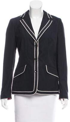 Rena Lange Contrast Three-Button Blazer w/ Tags