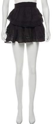 LoveShackFancy Ruffle-Accented Mini Skirt