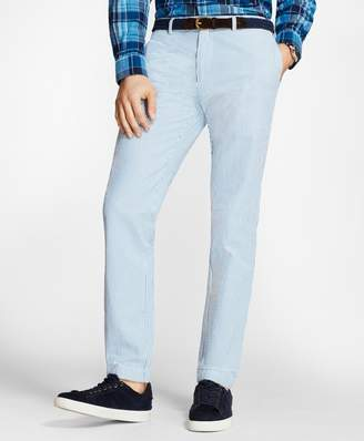 Brooks Brothers Slim-Fit Striped Cotton Seersucker Pants