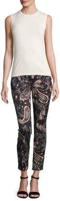 7 For All Mankind Jen7 By Paisley-Print Skinny Ankle Jeans, Multi