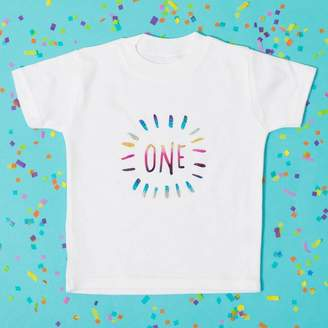 Baby Yorke Designs Childs Birthday Number Baby Grow Or T Shirt