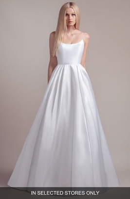 Vänna Blush By Hayley Paige Sequined Accent Back Wedding Dress