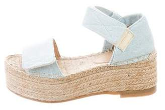 MM6 MAISON MARGIELA Denim Espadrille Wedges