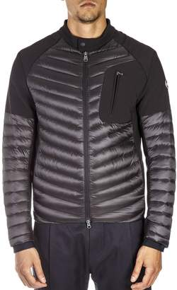 Colmar Black Jacket With Front Zip Pocket